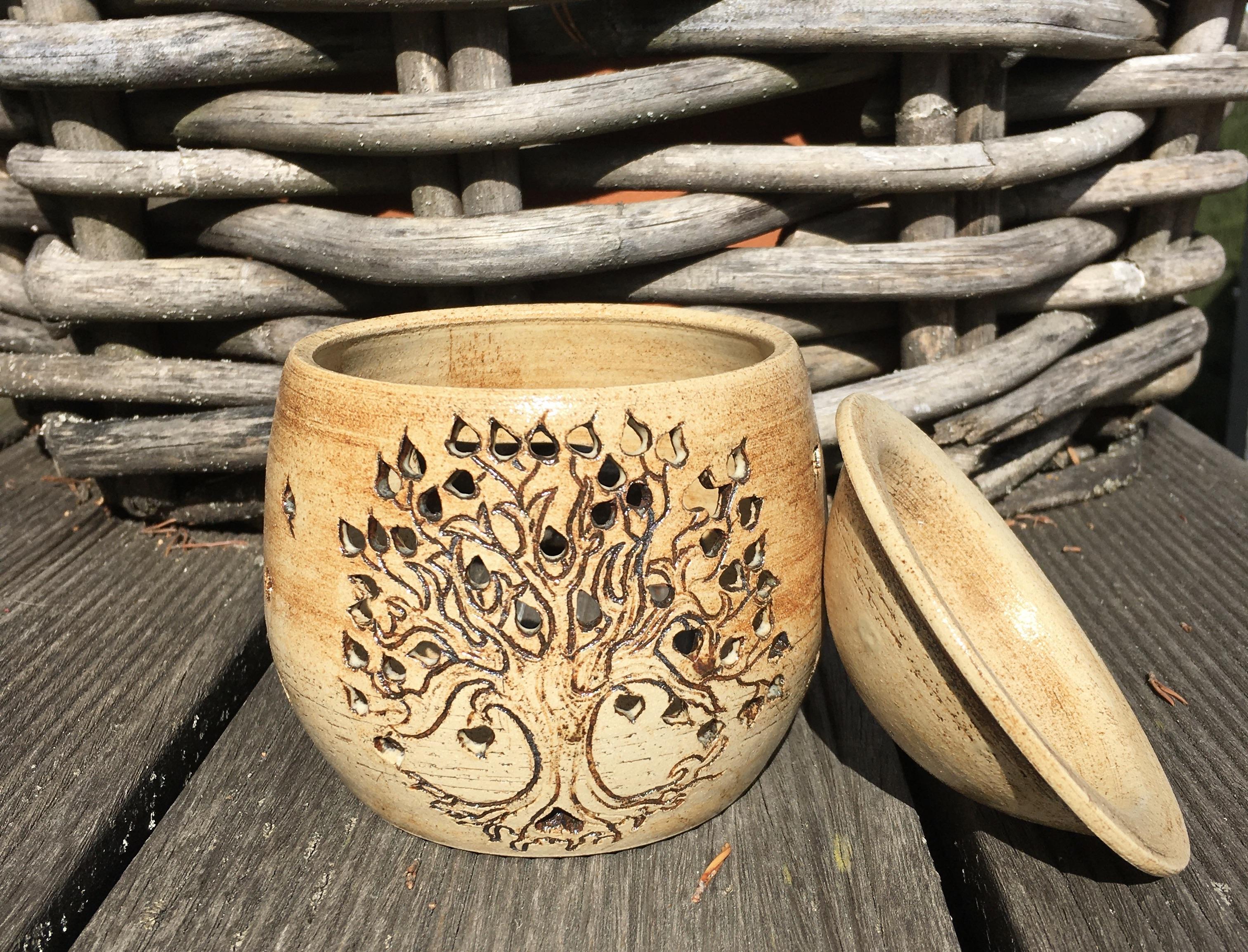 "Aromaöl-Lampe ""Lebensbaum"" - Aromaoil-lamp ""Tree of Life"""
