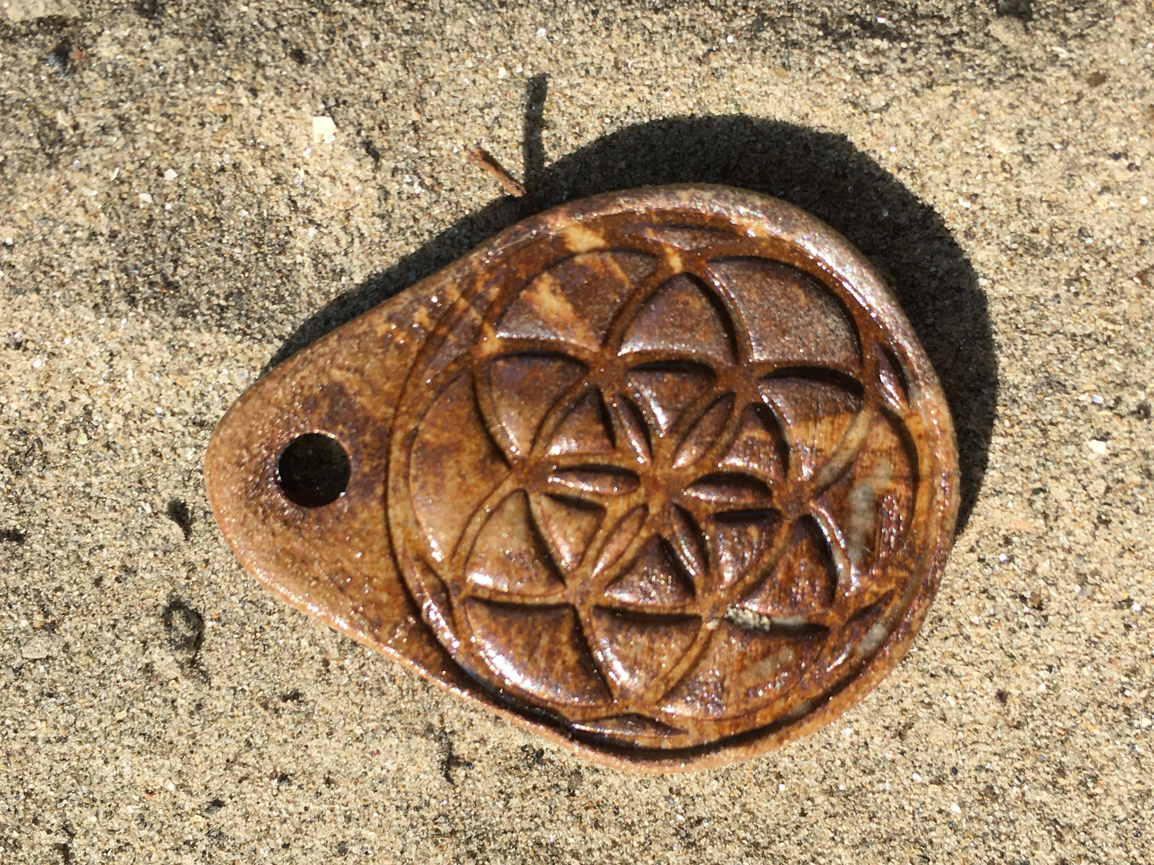 Amulett Samen des Lebens mit Agnihotra-Asche (2)