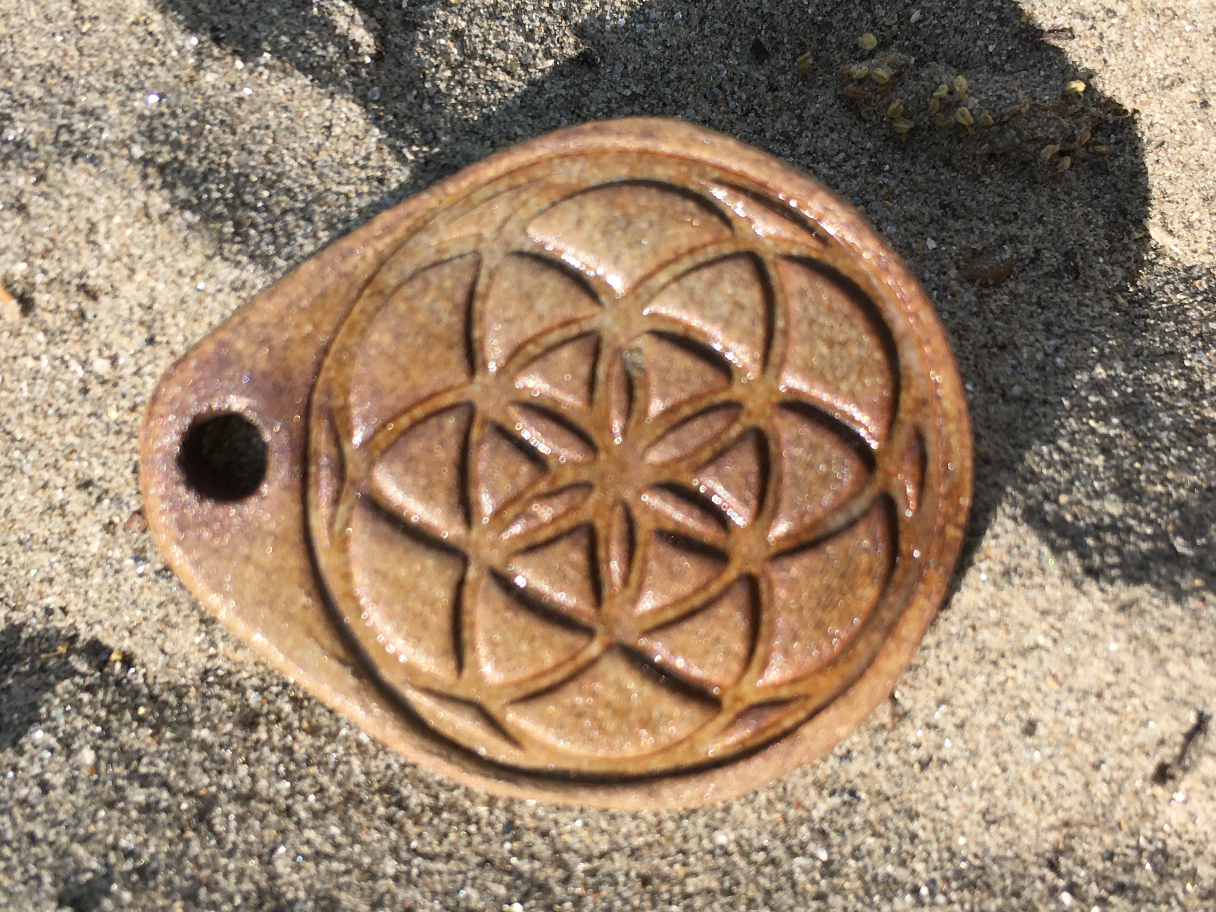 Amulett Samen des Lebens mit Agnihotra-Asche (3)