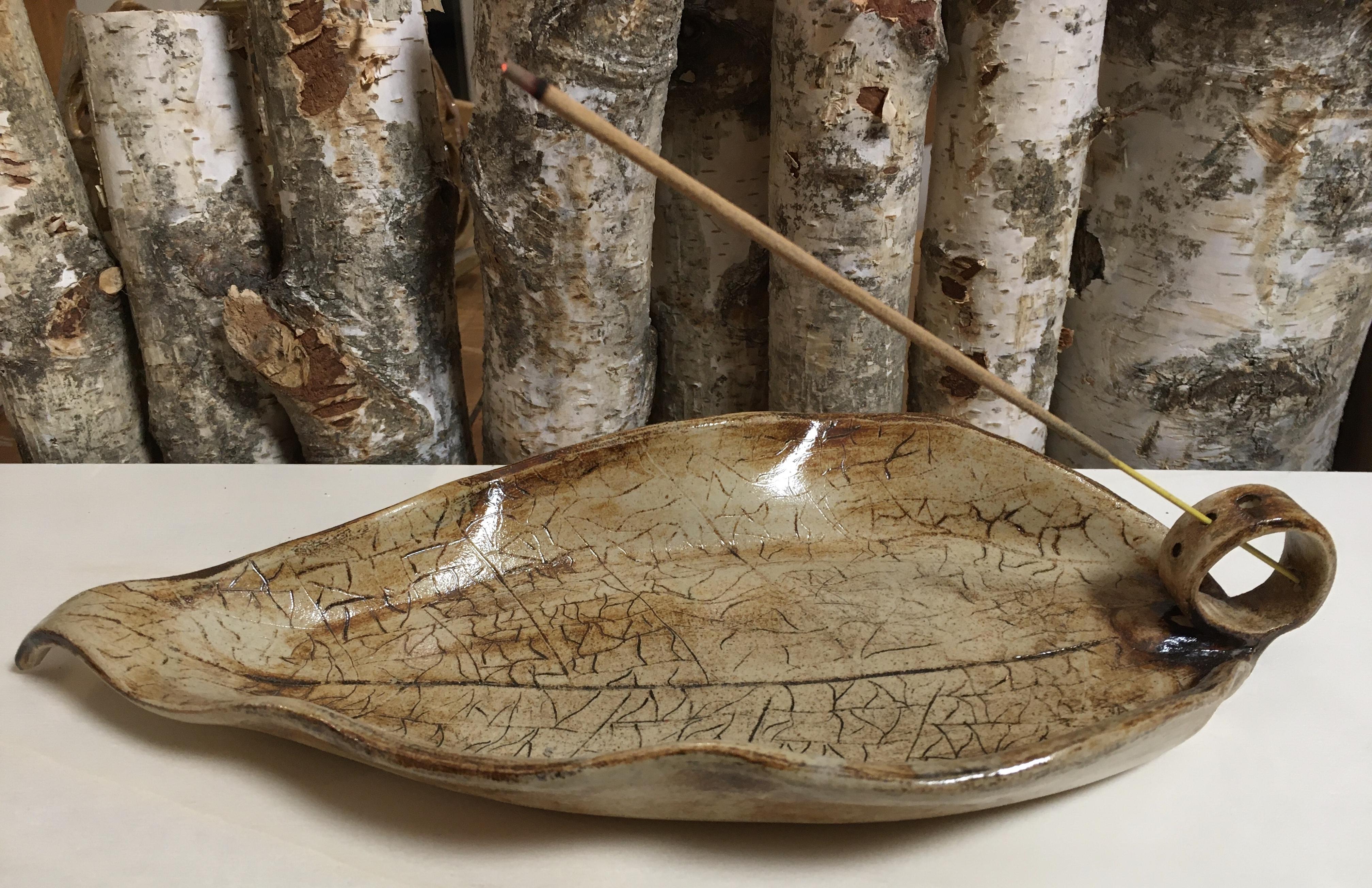 Räucherhalter Blatt - Incense Burner Leaf (2)