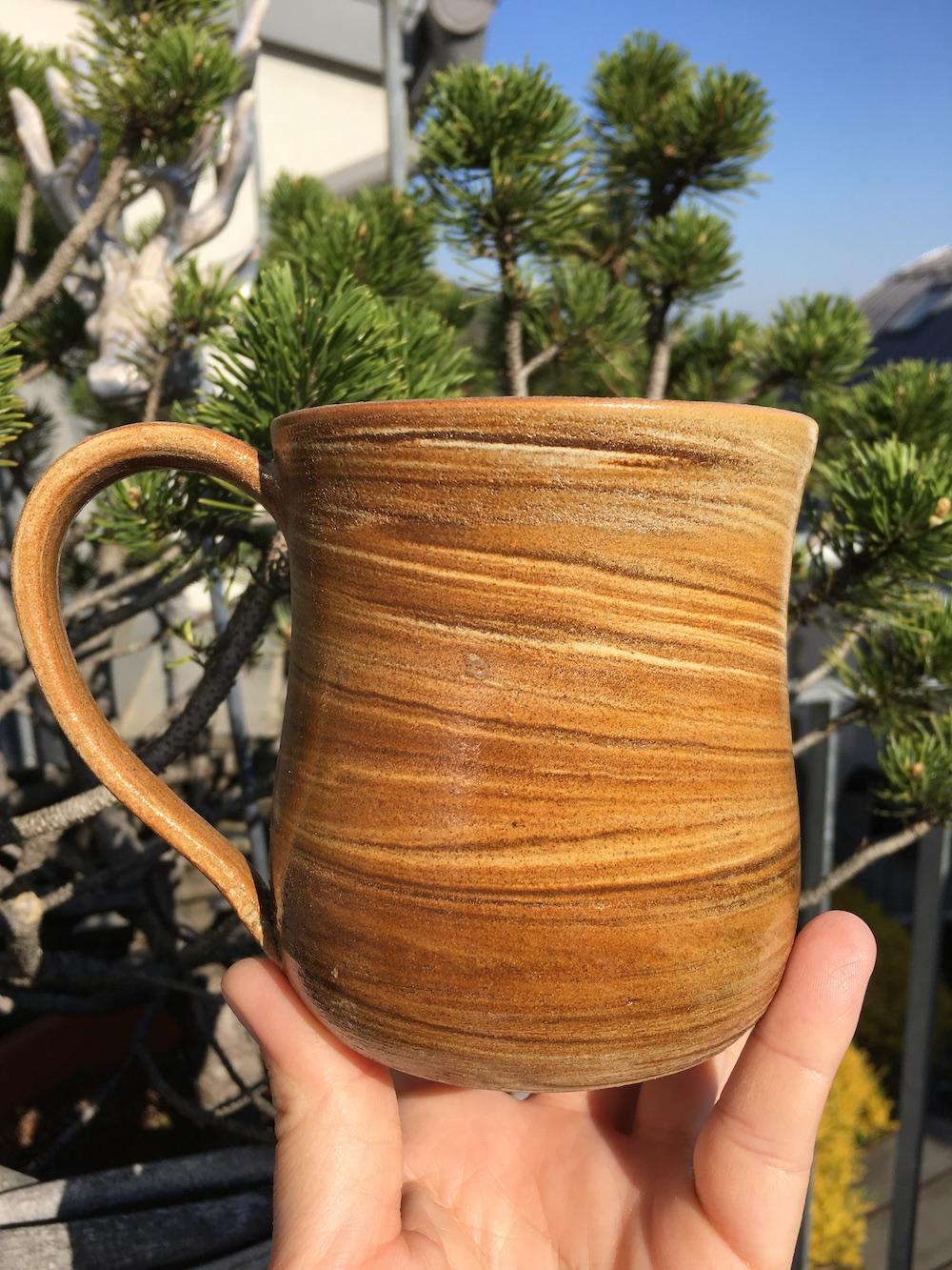 Tasse mit Ahorn und Agnihotraasche