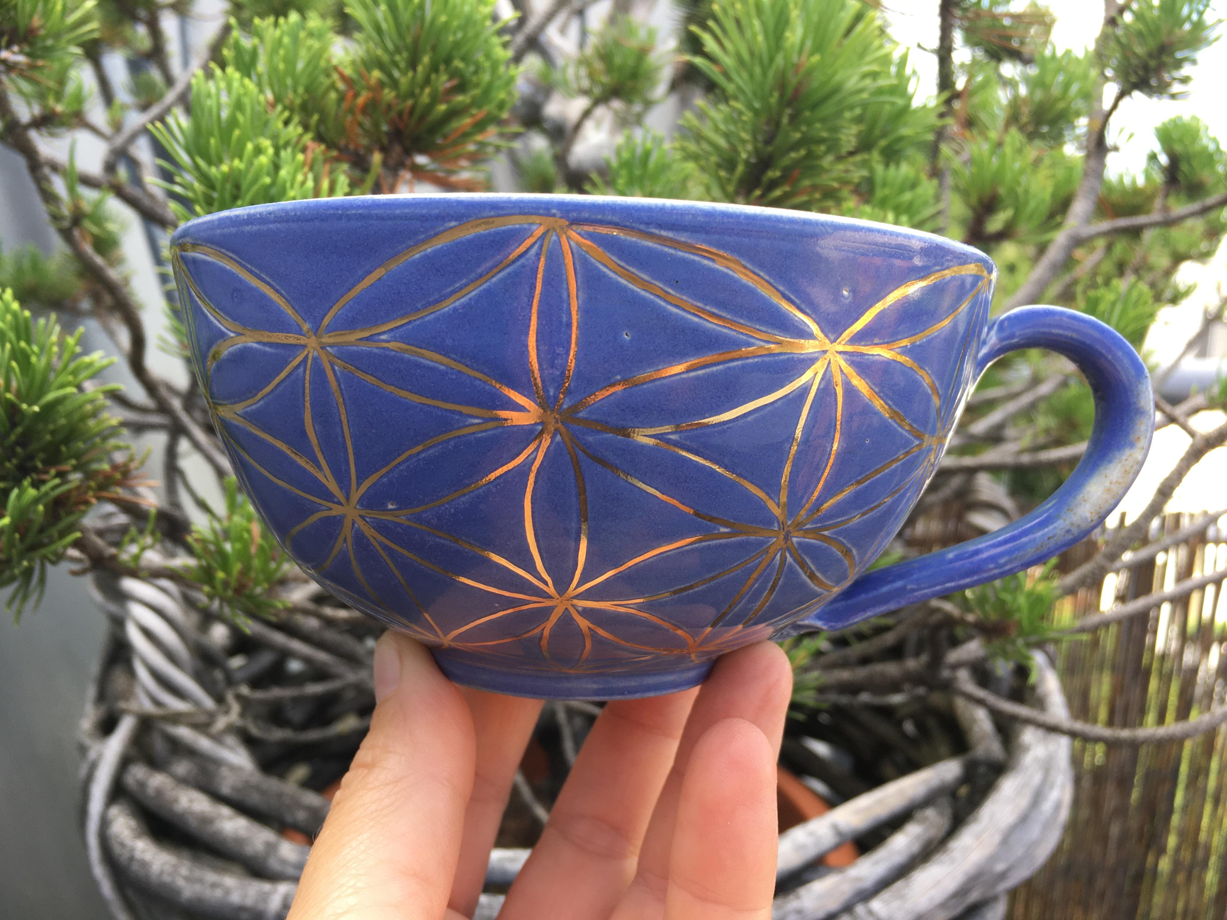 Tasse Lebensbaum aus Agnihotra-Keramik